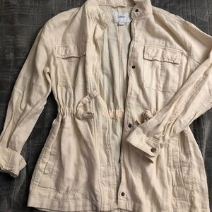 Women's old navy linen jacket NWOT
